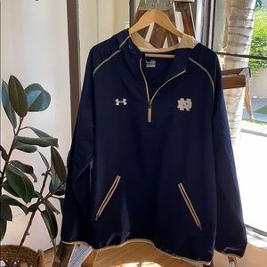 Under armour Notre Dame Hooded Pullover size XL